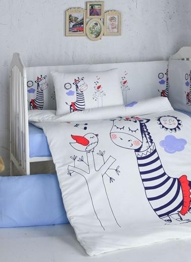 Komfort Home Bebek Uyku Seti 8 Parça Ranforce %100 Pamuk Renkli